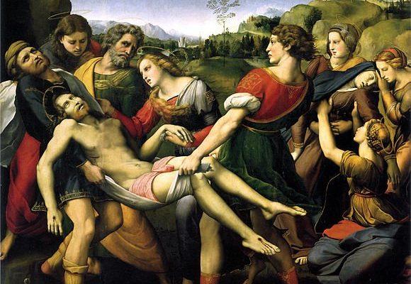 Roma, Galleria Borghese: Raffaello, Trasporto di Cristo