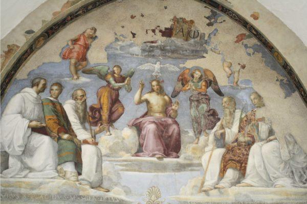 Perugia, Cappella di San Severo: Raffaello, Trinità e santi